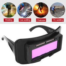 Solar Powered Automatic Light Darkening Welding Helmet Eyes Welder Glasses