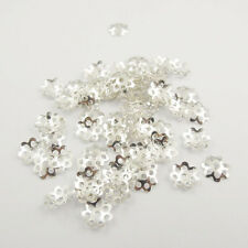 500Pcs Gold Silver Plated Little Flower Bead Caps Spacer Jewelry Findings 6mm