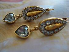Elegante refinanciaron-piedras en gris Swarovski-cristales-corazón coqueto marc lubera