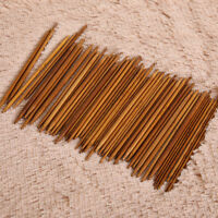 55 Stück Bambus Stricknadel Set Dual Spitz 11 Größen 2~5mm Länge 14cm Nadelspiel