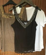 Ladies clothes bundle size 12 M&S per Una tops browns white
