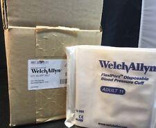 Box/20 WELCH ALLYN FLEXIPORT DISP BLOOD PRESSURE CUFFS REF SOFT-11  ADULT 11  kp