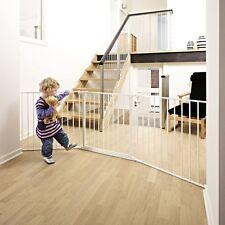 BabyDan Configure Barrière de Sécurité, Blanc, Grand 72cm - 223cm