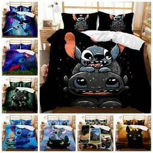 Dragon Stitch Quilt Duvet Cover Pillowcase Bedding Set Single Double King Size