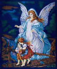 NEW LARGE GUARDIAN ANGEL W/CHILDREN CHRISTMAS PANEL QUILTS HOME DECOR & PROJECTS