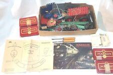 60 Jahre alter Märklin Metallbaukasten 1952 mit diversen Teilen Katalog 170
