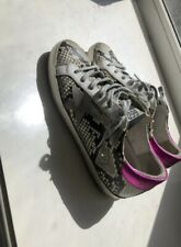 Golden Goose Superstar Sneakers Women Snake Python Fasion Shoes us 7.5 RRP 700$