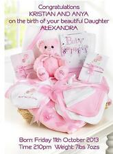 Birth of Baby Girl Congratulations A5 Card Personalised Friends New Parents Gift