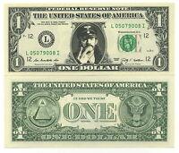 LEMMY / MOTORHEAD ! VRAI BILLET de 1 DOLLAR US! Collection HEAVY METAL HARD ROCK