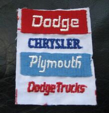 "DODGE CHRYSLER PLYMOUTH DODGE TRUCK EMBROIDERED PATCH AUTOMOBILE 2 1/2"" x 3 1/4"""