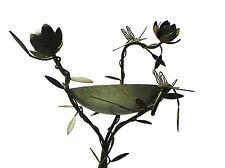 Birdbath with lotus flowers and Dragonfly- Handmade in Australia