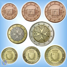 KMS Kursmünzensatz MALTA 2016 ## 1 Cent - 2 Euro Kursmünzen (3,88€) mit Mzz. F
