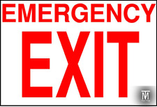 Emergency Exit sign decal sticker