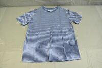 Vince Pencil Stripe Essential Crew Neck T-Shirt, Women's Size S, Blue/White NEW