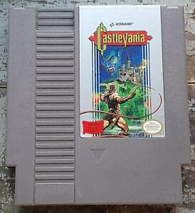 Nintendo NES Castlevania cart/sleeve, cleaned/tested, authentic