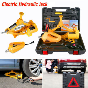 12V 3T Electric Hydraulic Jack Wrench set for Car Tire Replace Emergency Tool