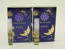 2 x Amouage FATE MAN EDP Eau de Parfum 2ml Vial Spray New With Card
