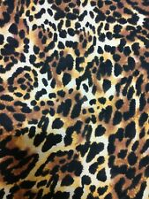 Leopard Print Nylon/Spandex Swimsuit Fabric by the Yard