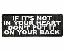 If it's Not In Your Heart Dont Put It On Your Back MC Club Biker Vest PAT-3378