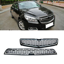 For Chevrolet Malibu 2013 Silver Upper+Lower Front Bumper Mesh Grille Grill OEM