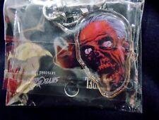 """Le walking dead """"Zombie Tête"""" clé de porte-clés en métal chaîne (rock rebel / skybound) nouveau"""