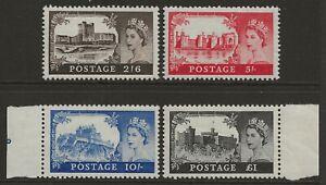 GB 1955 Waterlow Castles complete set of 4 superb mint MNH SG#536-539 cat £250