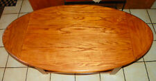 Oval Solid Oak Dropleaf Coffee Table  (CT159)