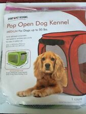 Pop Open Dog Kennel large for Dogs up to 50 lbs. red () NEW IN BAG
