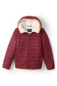 LANDS' END Little Boys 7 Fleece Lined PrimaLoft® ThermoPlume® Jacket NWT $119