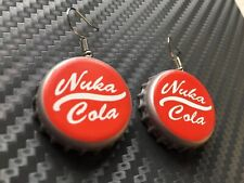 Fallout Nuka Cola Bottlecap Earrings - Hand Crafted