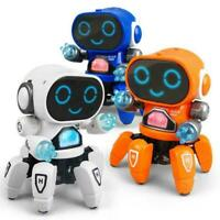 Toys For Boys Electric Smart LED Music Dancing Robot Gift Kids Toy Birthday Y8Q3