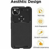 Shockproof Carbon Fiber Soft TPU Bumper Case Cover Fr Google Pixel 5 3A XL 4A 5G