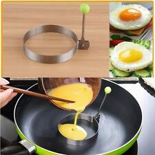 Stainless Steel Fried Fry Poacher Pancake Poach Egg Rings Moulds Maker Round EL