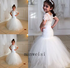 New Flower Girl Princess Dress Lace Party Pageant Wedding Bridesmaid Dresses