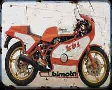 Bimota Kb1 2 A4 Metal Sign Motorbike Vintage Aged
