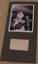Billie HOLIDAY  Signed Photographed album page cut JAZZ