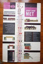 1960 Your New Met London Transport Underground Railway Poster by William Fenton