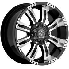 4 Panther 501 20x9 8x658x170 10mm Blackmachined Wheels Rims 20 Inch Fits More Than One Vehicle