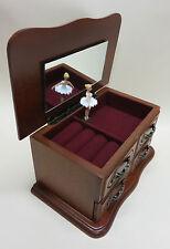 Schatulle mit Spieluhr Ballerina gold glitzer NEU Spieldosen wunderschönes Schmuckkästchen
