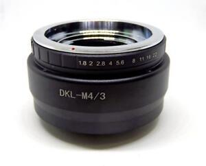 Voigtlander Retina DKL Lens to Micro 4/3 MFT M4/3 M43 Mount Adapter DKL-M43(Y)