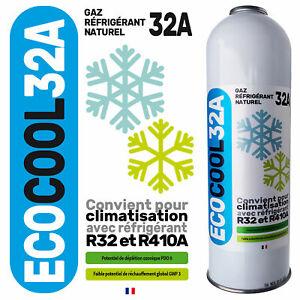 EcoCool 32A Canette recharge de gaz substitut compatible R32 R410A clim maison