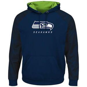 NFL Seattle Seahawks Hoody Armor Hooded Sweater Hooded Pullover Jumper Navy
