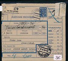 82136) CSR Czechoslovakia Sudeten Boom Post accompanying address (1935/38) Nove Mest NAD N.