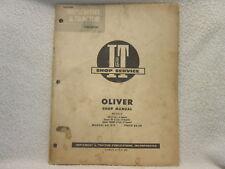 Oliver Tractor 99 Super 99Gm 1952 It Service Shop Manual