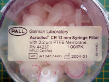 NEW SEALED 100 Pall Gelman 4423T Acrodisc CR 13mm Syringe Filter 0.2μm PTFE