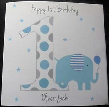 Handmade Personalised 1st Birthday Card Boys Son Grandson Nephew Godson Brother