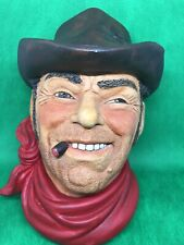 Cowboy By Legend Products Vintage 1986 Chalkware Heads