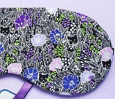 Eye Sleep Mask Cats Flowers Soft Cotton Travel, Blackout Relax Blindfold UK Gift