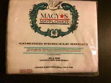 NIB VINTAGE MACY'S MAYFLOWER SHEET DOUBLE SIZE 100% COTTON 180 COMBED PERCALE