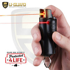 Pepper Spray Keychain OC Mace Police Self Defense Laser Site Guard Dog AccuFire